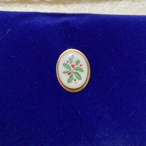 Lenox 14KGF Mistletoe Pin/Pendant 🎄🌹✨